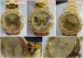 eb67e8ad261 Belíssimo Relógio Dourado com Borboleta
