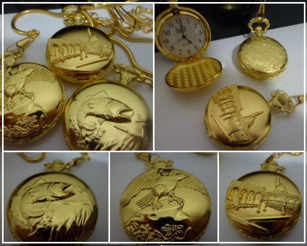 ab94a1323e9 Elegantes Relógios de Bolso Retrô - Várias Gravuras - Importta Shop